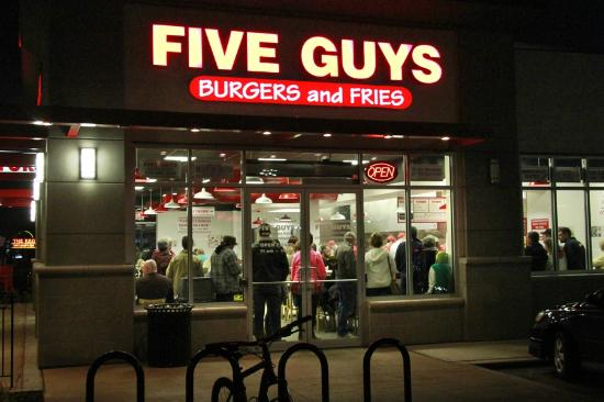 Five Guys Hours Of Operations